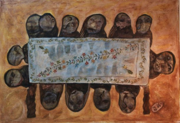 kamala-ishaq_dinner-table_aware_women-artists_artistes-femmes-750x515